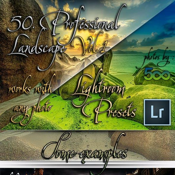 50 Professional Landscape Lightroom Presets Vol.1