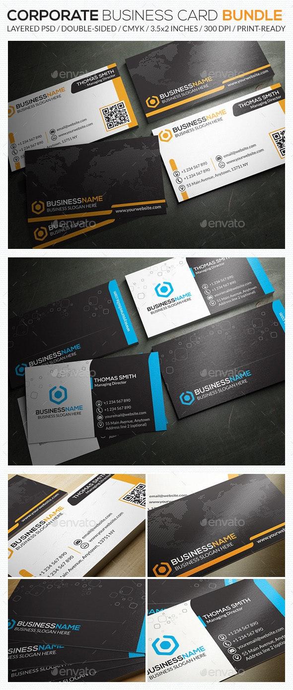 Corporate Business Card Bundle 08 - Corporate Business Cards