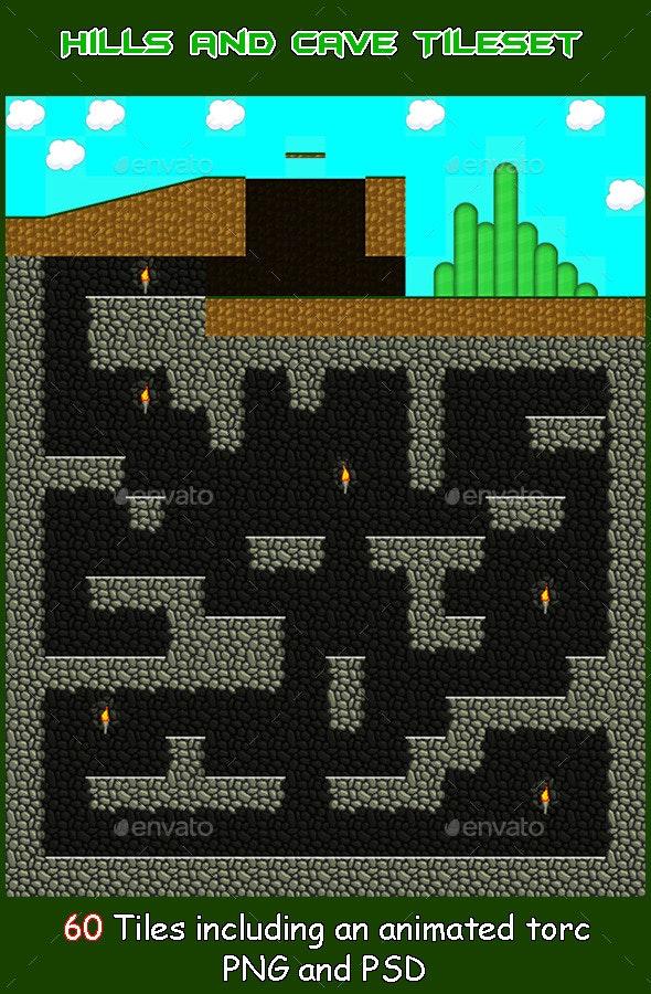 Platform Hills and Cave TileSet