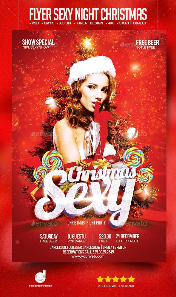Flyer Sexy Night Christmas - Clubs & Parties Events