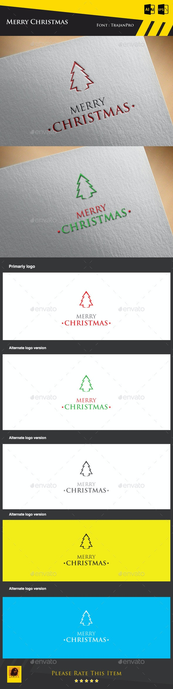 Merry Christmas Logo Template - Symbols Logo Templates
