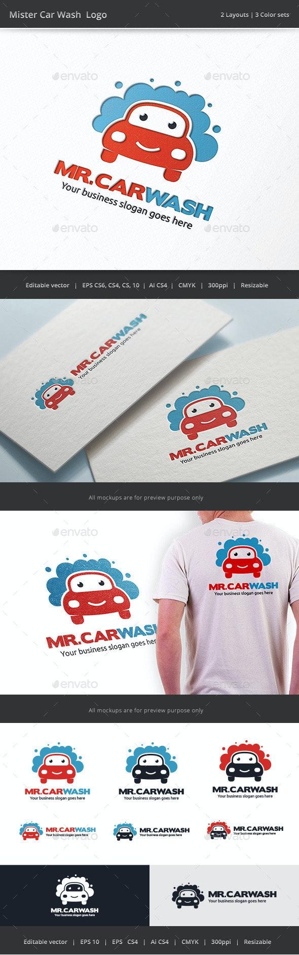 Mister Car Wash Logo - Objects Logo Templates