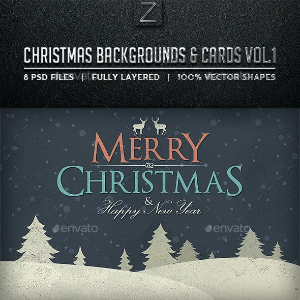 Christmas Backgrounds and Cards Vol.1