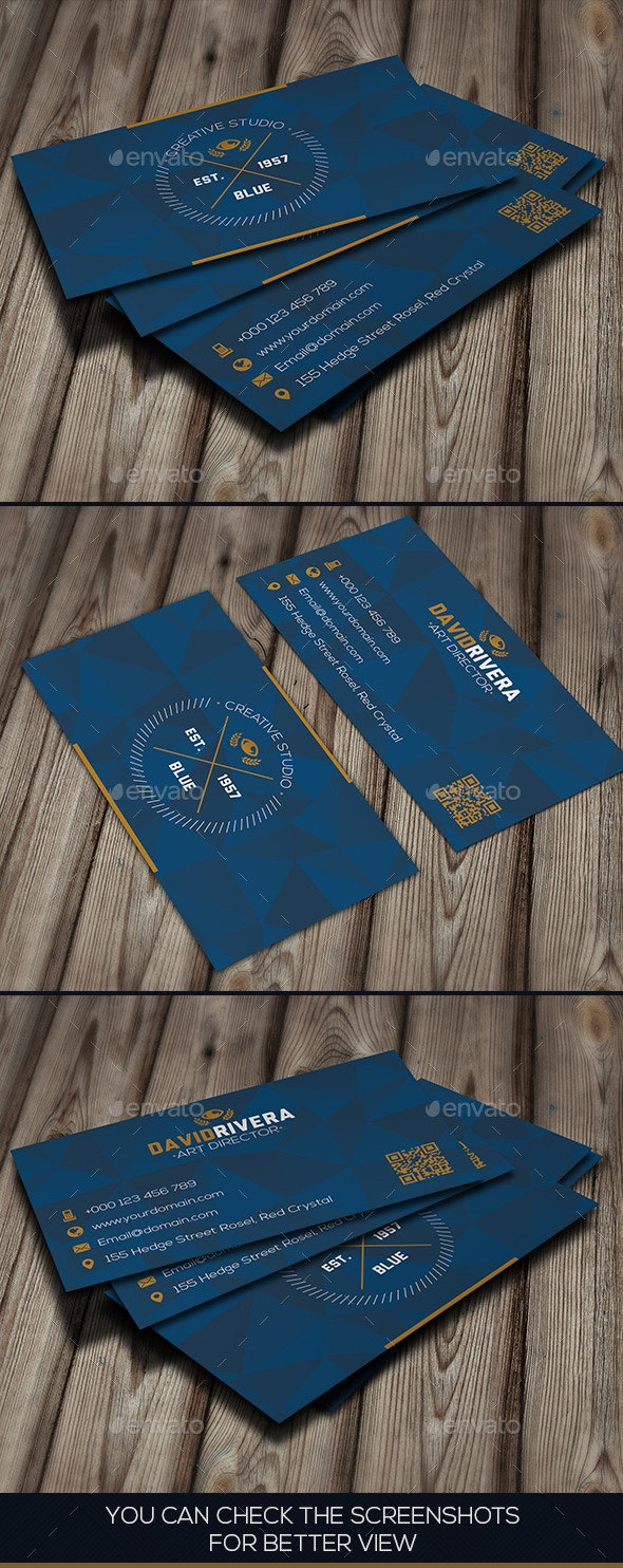 Crystal Blue Creative Business Card - Creative Business Cards