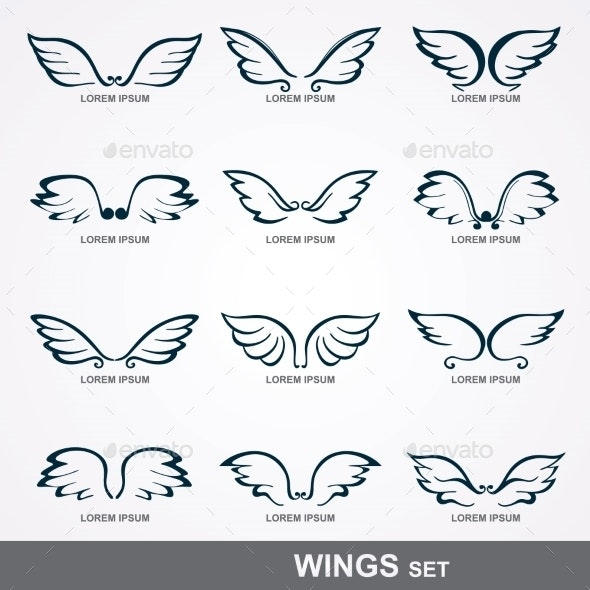 Wings Collection  - Tattoos Vectors