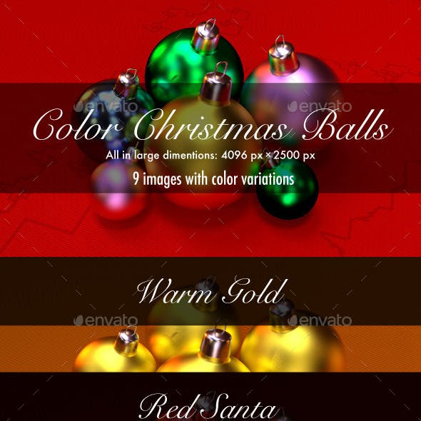 Color 3D Christmas Balls Images