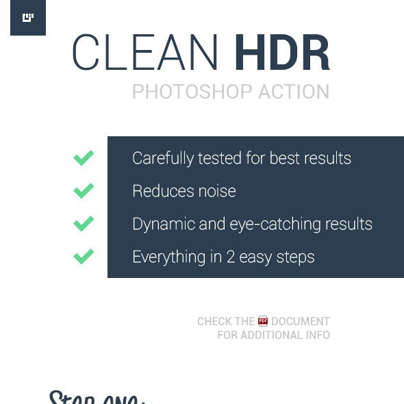 Clean HDR Photoshop Action