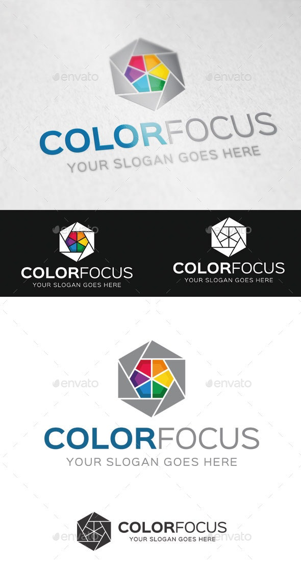 Color Focus Logo Template - Abstract Logo Templates