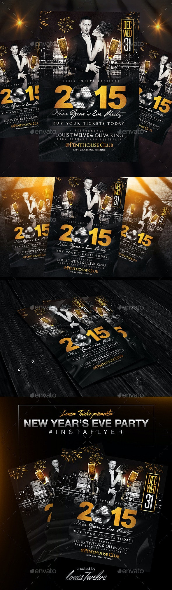 New Year's Eve Party Flyer + InstaPromo - Clubs & Parties Events
