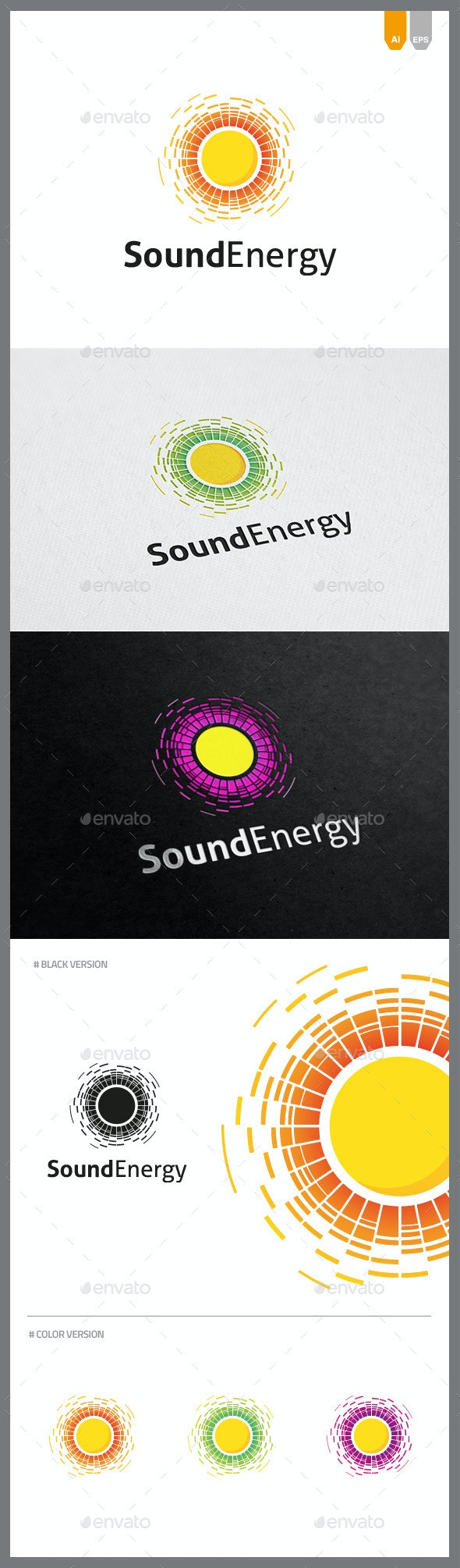 Sound Energy Logo - Objects Logo Templates