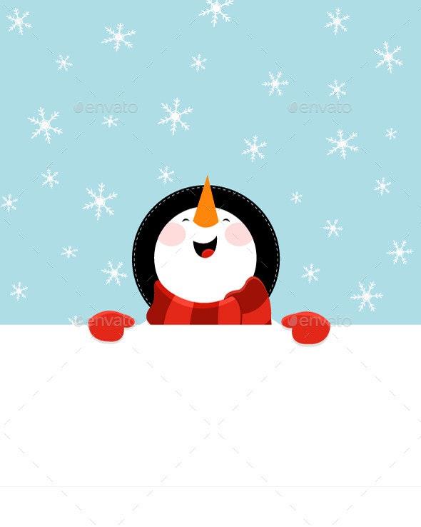 Snowman's Message - Christmas Seasons/Holidays