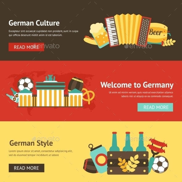 Germany Banner Set - Travel Conceptual