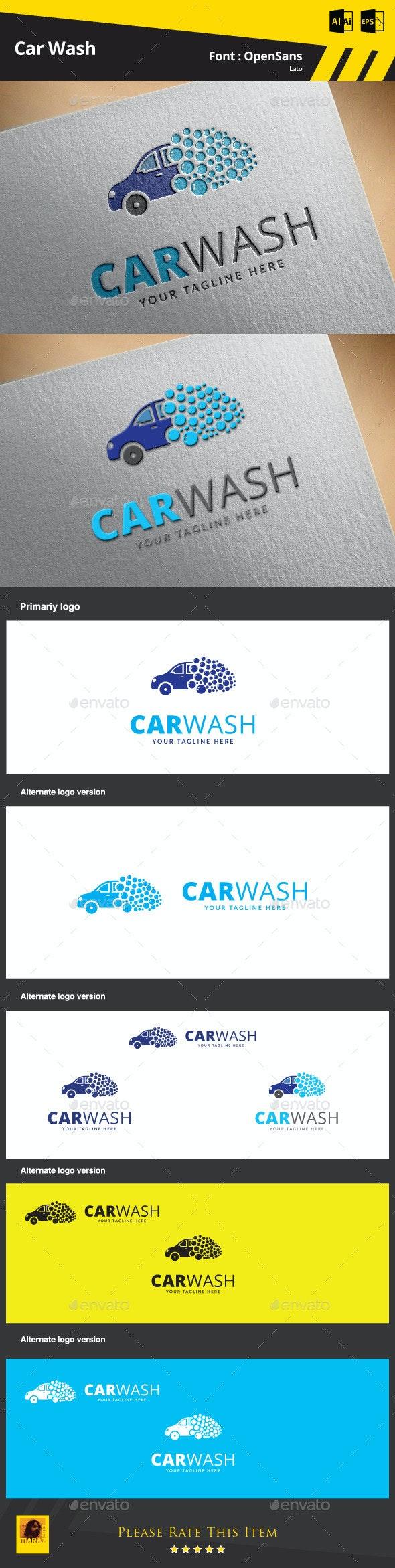 Car Wash Logo Template - Objects Logo Templates