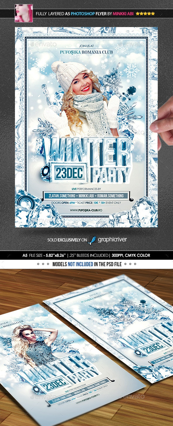 Winter Party Poster/Flyer - Clubs & Parties Events