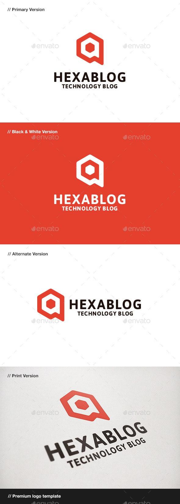 Hexablog - Hexagon & Blog Logo - Symbols Logo Templates