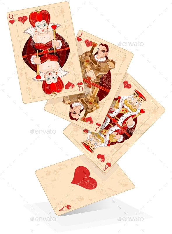 Hearts Play Cards - Sports/Activity Conceptual