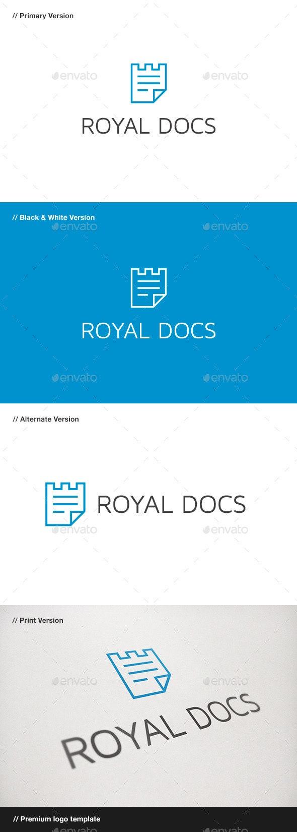 Royal Docs Logo - Objects Logo Templates