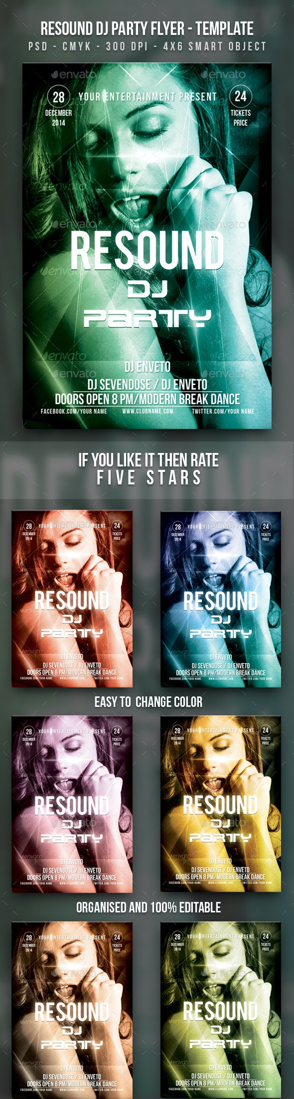 Resound DJ Party Flyer - Clubs & Parties Events