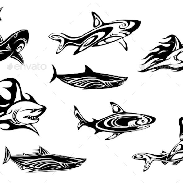 Fierce Shark Tattoo Icons