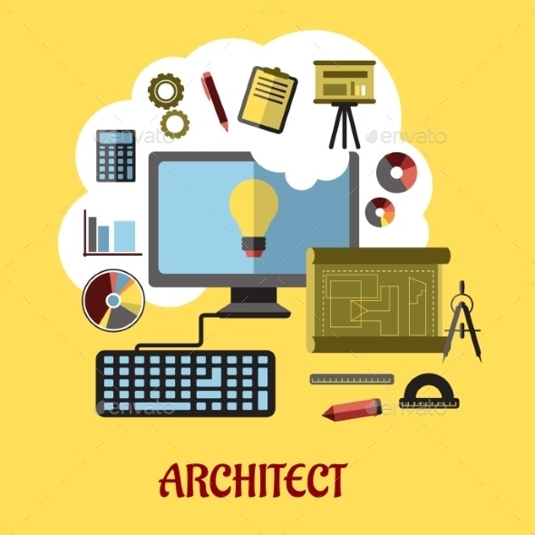 Architect or Education Concept - Technology Conceptual