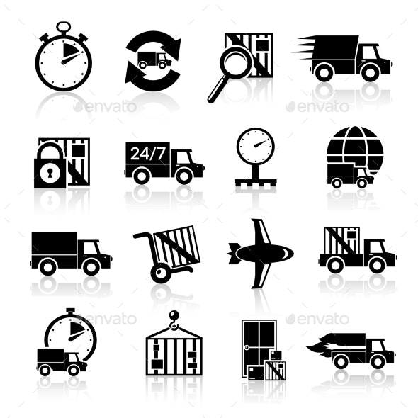 Delivery Icons Set - Technology Conceptual
