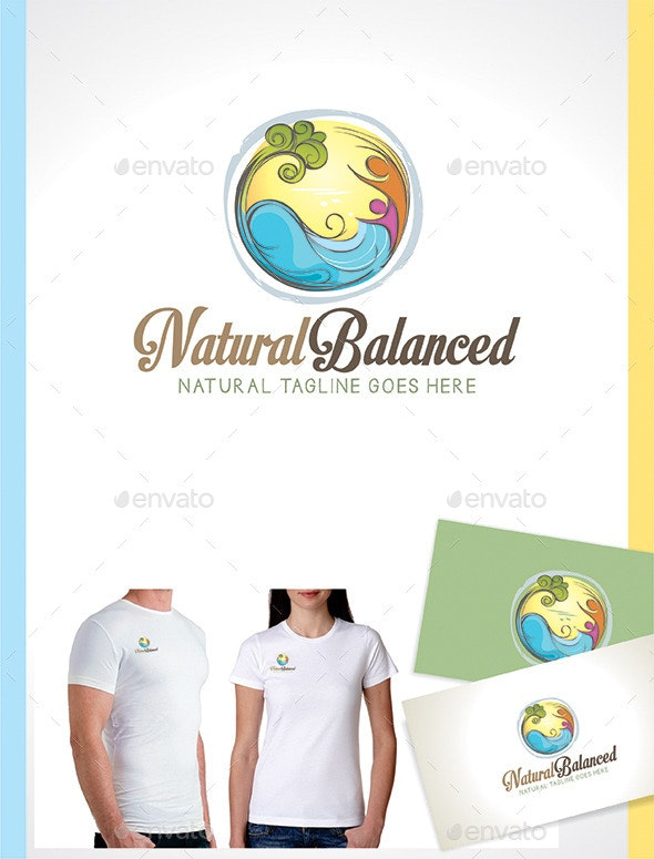 Wellness Logo Template - Natural Style - Nature Logo Templates