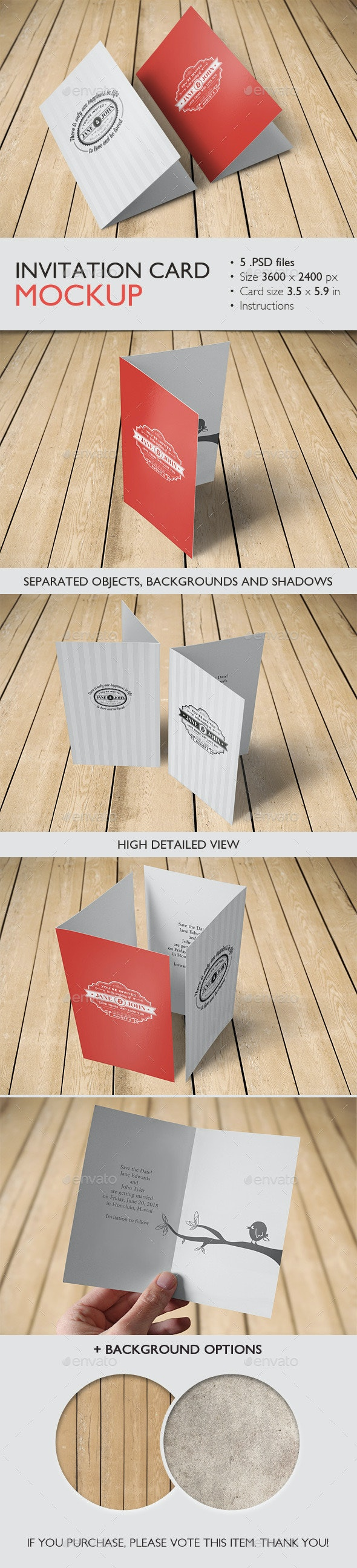 Invitation Card Mockup - Brochures Print