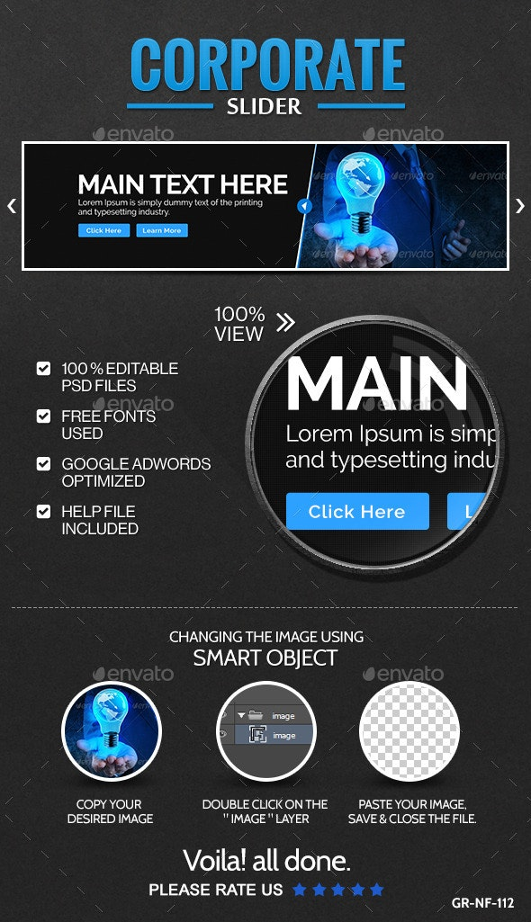 Corporate Slider/Hero Image - Sliders & Features Web Elements