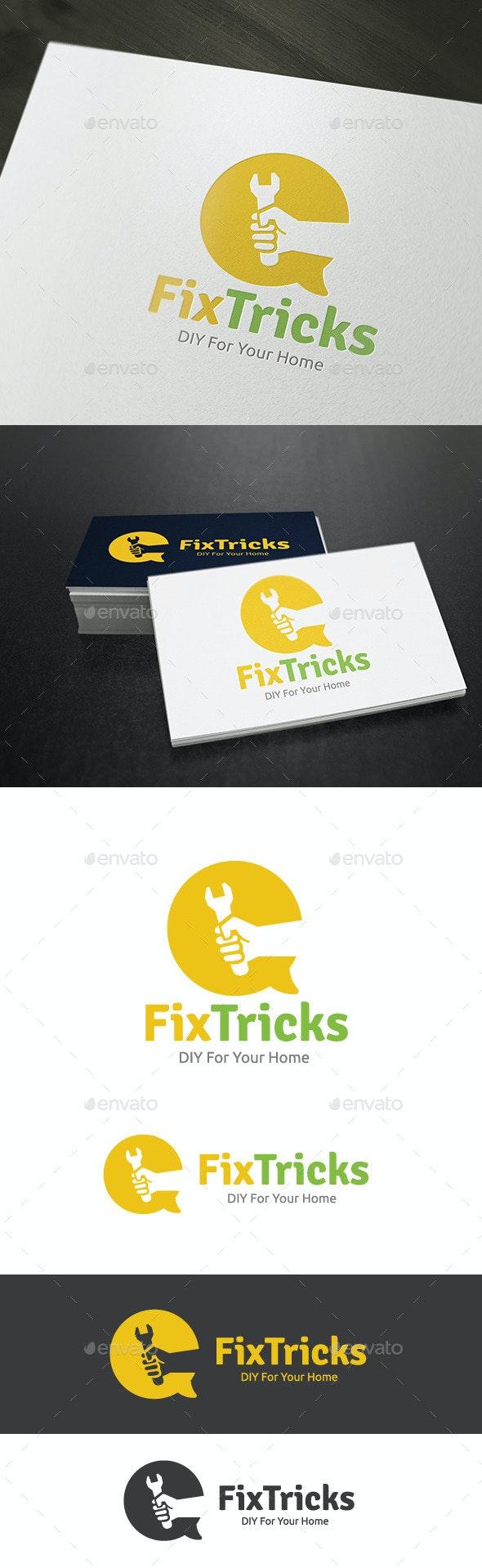 DIY Fix Tricks - Humans Logo Templates