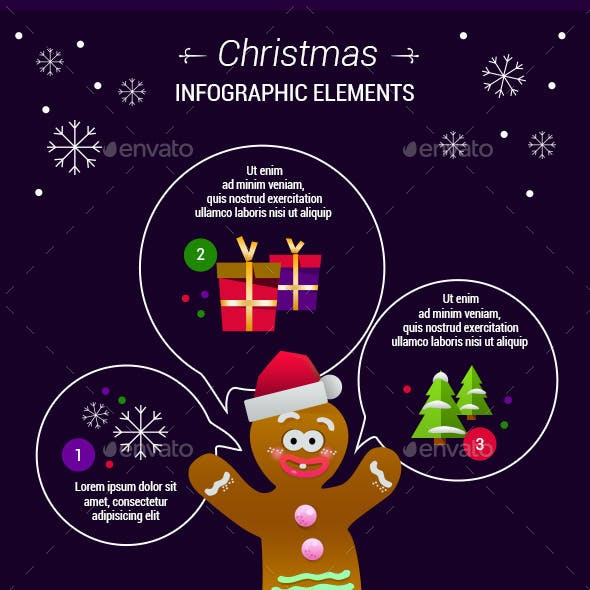 Gingerbread Man Infographic Elements