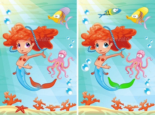 Spot the Differences - Characters Vectors
