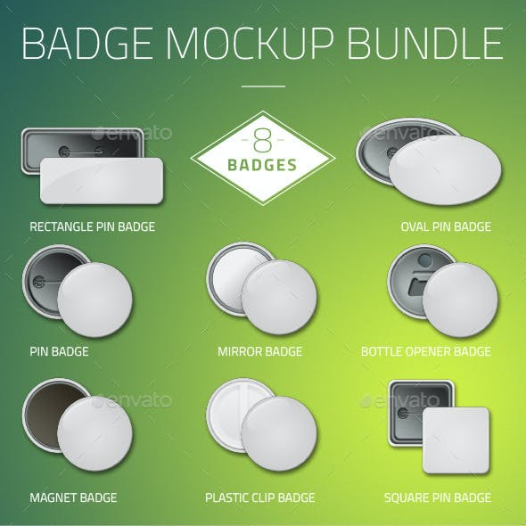 Button Badge Mockup Bundle