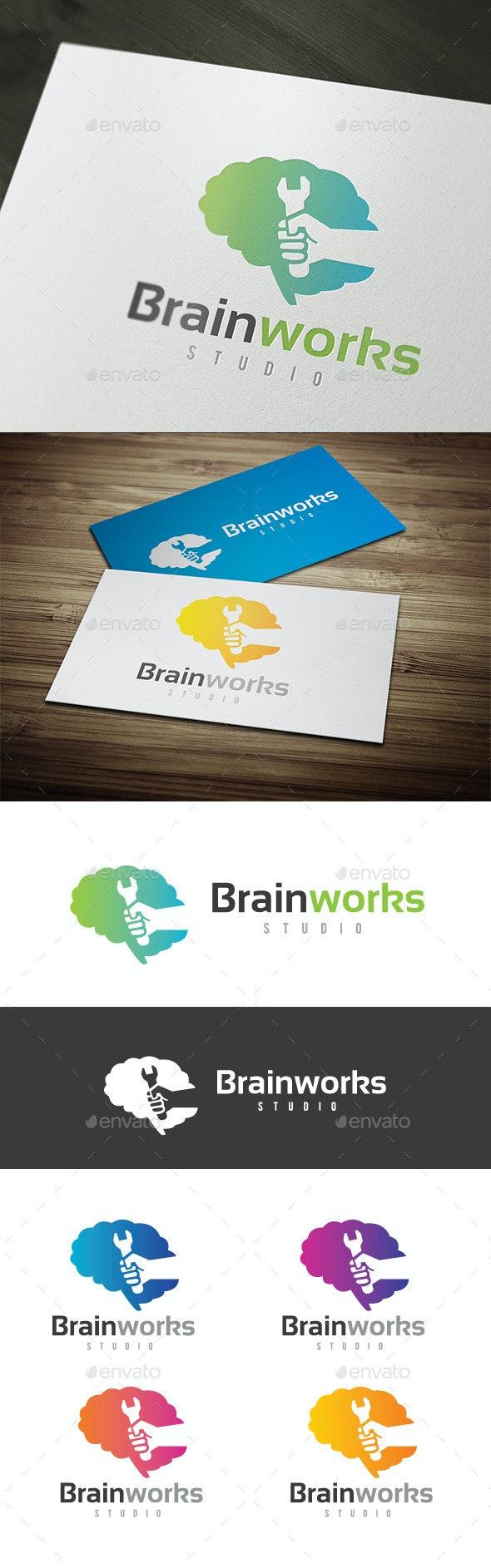 Brain Works - Humans Logo Templates