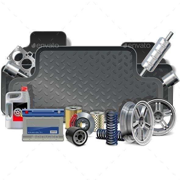 Vector Car Parts Frame