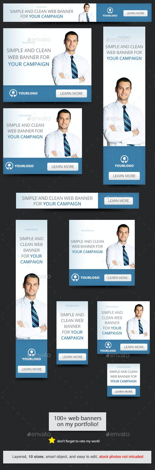 Corporate Web Banner Design Template 56 - Banners & Ads Web Elements