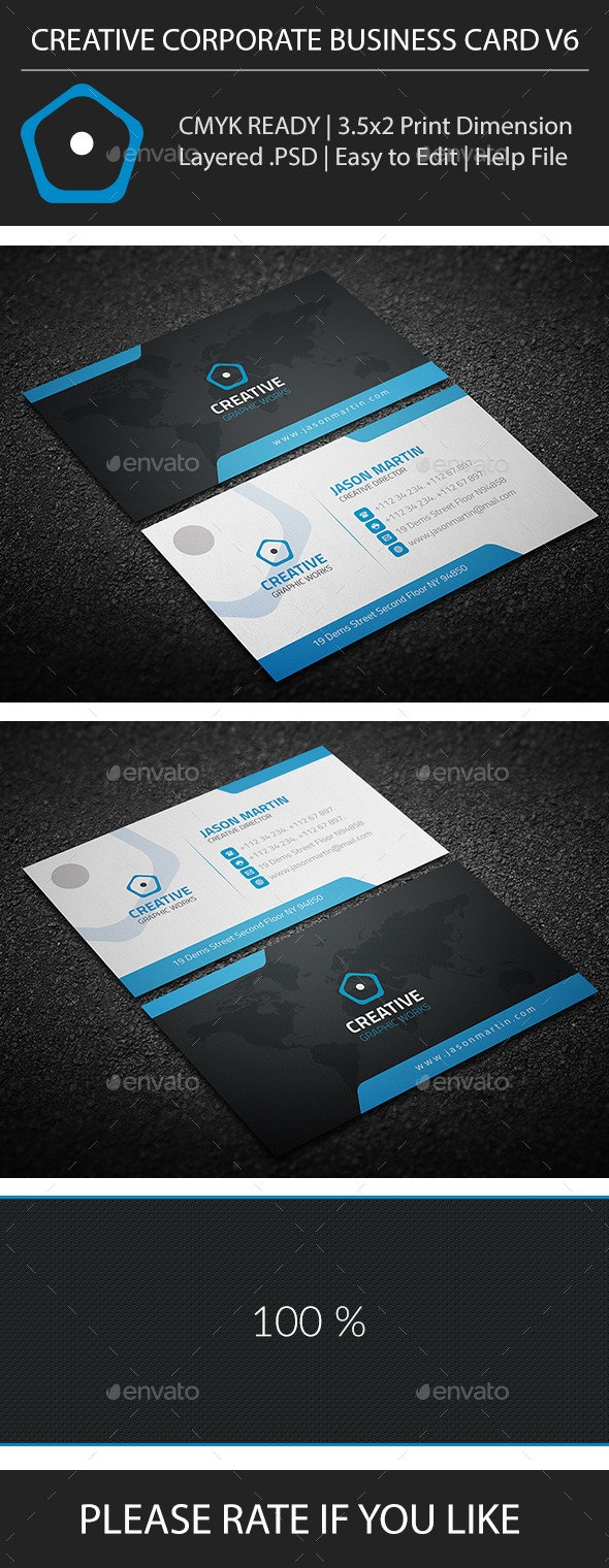 Creative Corporate Business Card V6 - Corporate Business Cards