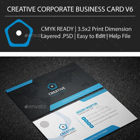 Creative Corporate Business Card V6