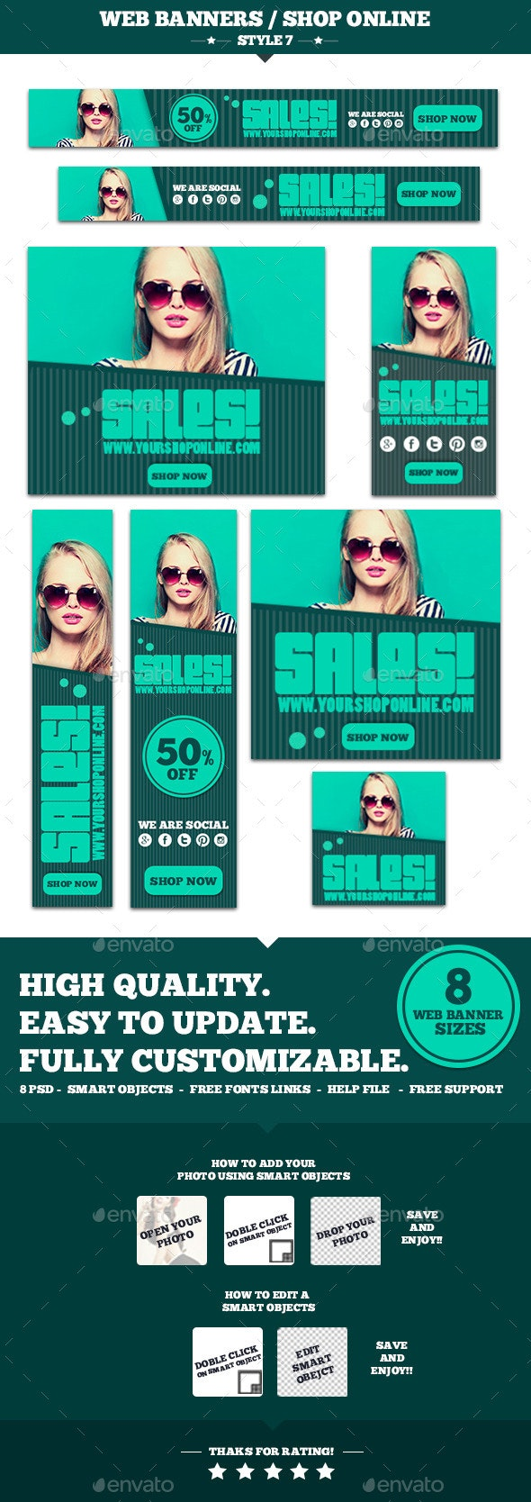 Web Banners Shop Online Style 7 - Banners & Ads Web Elements