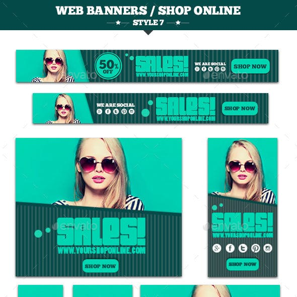 Web Banners Shop Online Style 7