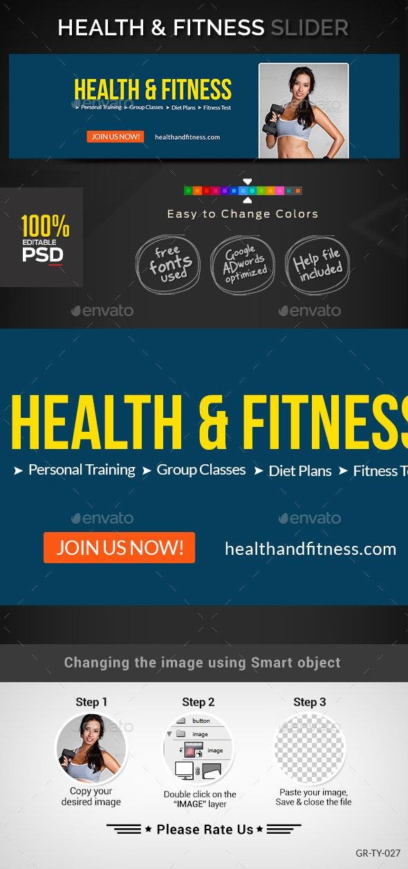 Health & Fitness Slider - Sliders & Features Web Elements