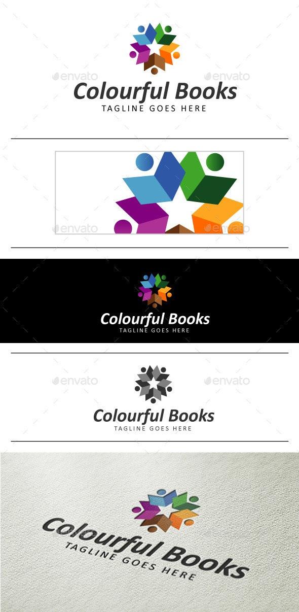 Colourful Books Logo - Logo Templates