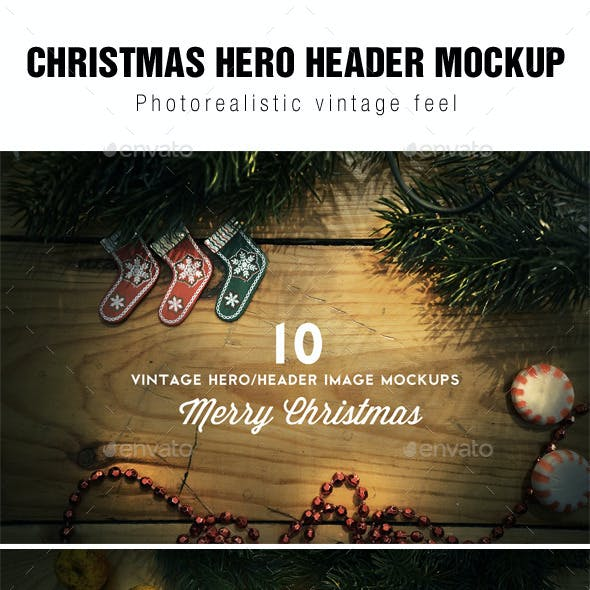 Christmas Hero / Header Images Mockup