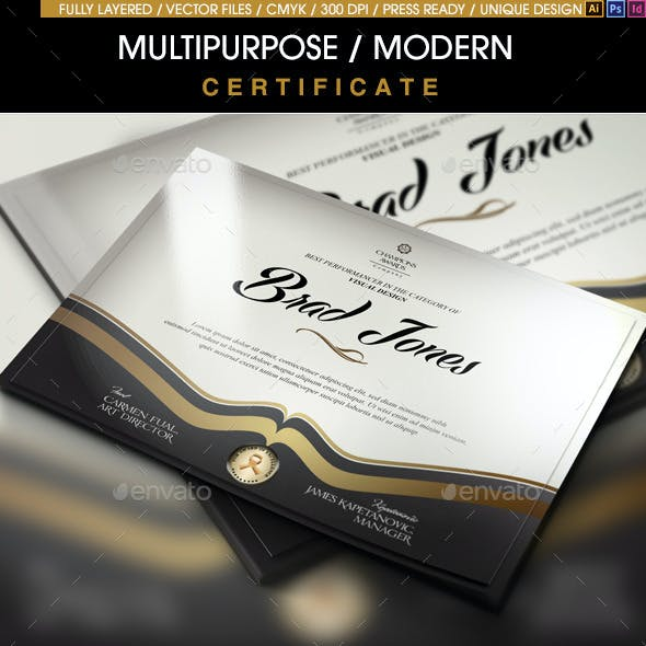 Multipurpose Modern Certificate v.3 (All Formats)