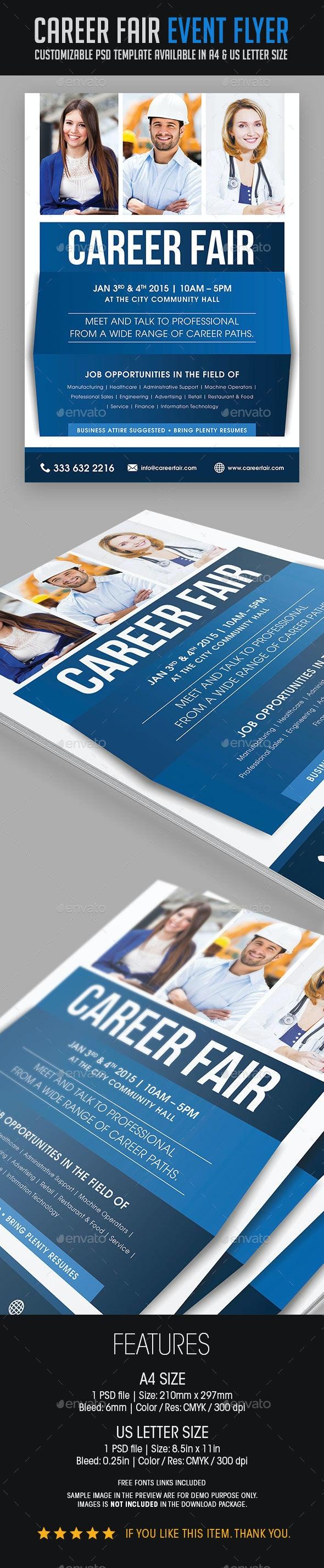 Career Fair Event Flyer - Events Flyers