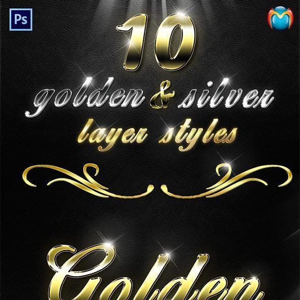 Golden & Silver Layer Styles V.2