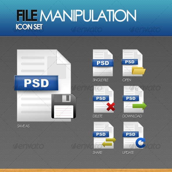 File Manipulation Icon Set