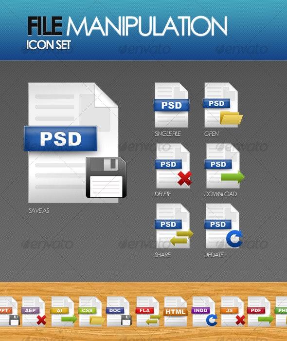 File Manipulation Icon Set - Software Icons