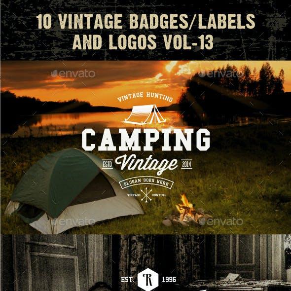 10 Vintage Badges/labels and Logos Vol-13