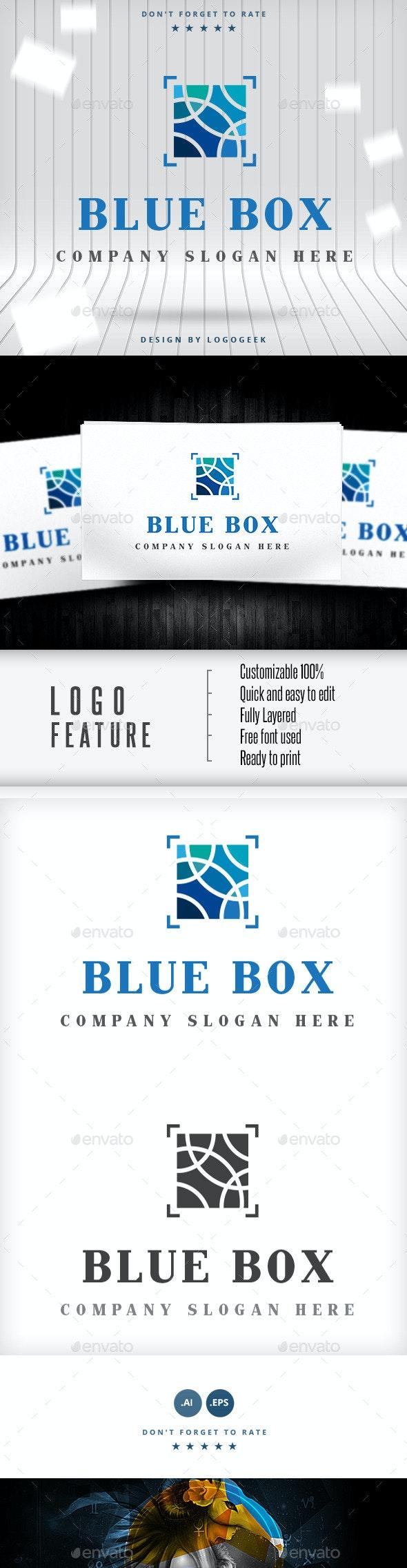 Blue Box Logo - Logo Templates
