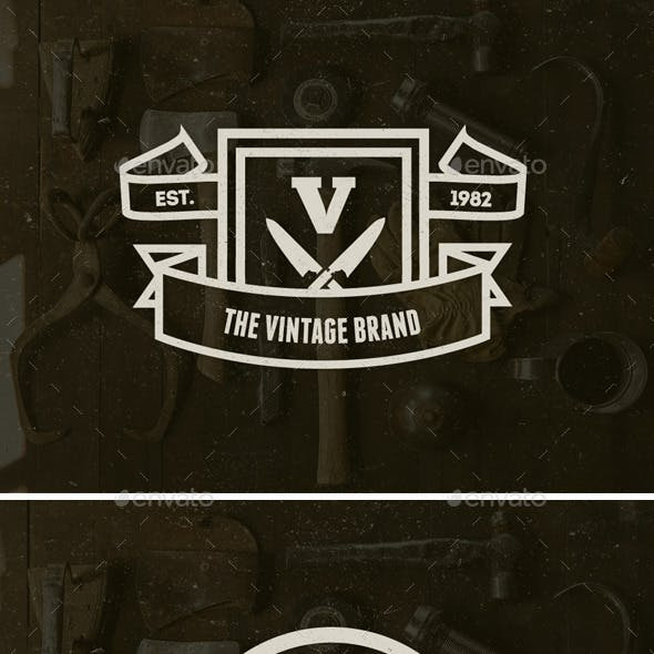 20 Vintage Logos Labels & Badges